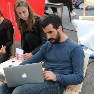 LÀBA, Bagage de compèt', atelier CV mobil', Festival Voix Publiques, Strasbourg, mai 2017