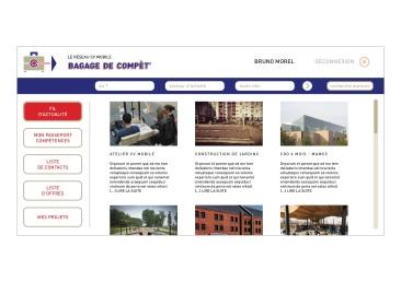 LÀBA, Bagage de compèt, fil d'actualité du réseau CV mobile, 2017