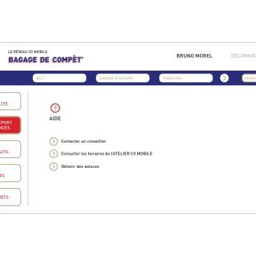 LÀBA, Bagage de compèt, page d'aide du réseau CV mobile, 2017