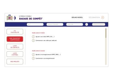 LÀBA, Bagage de compèt, page d'édition de CV du réseau CV mobile, 2017 (3)