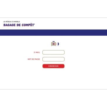 LÀBA, Bagage de compèt, page de connexion du réseau CV mobile, 2017