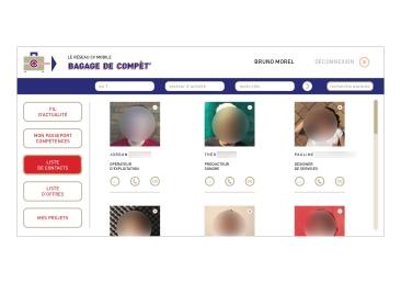 LÀBA, Bagage de compèt, page de contacts du Réseau CV Mobile, 2017