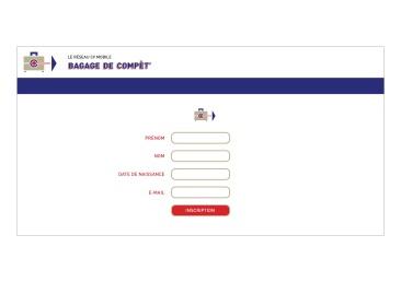 LÀBA, Bagage de compèt, page d'inscription du réseau CV mobile, 2017