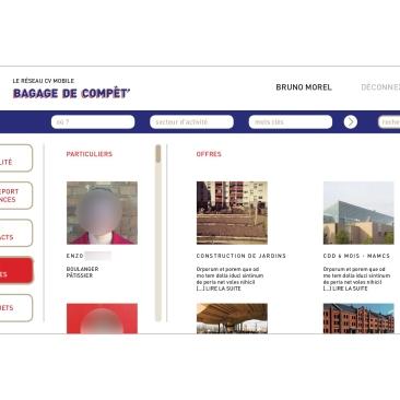 LÀBA, Bagage de compèt, page d'offres du réseau CV mobile, 2017